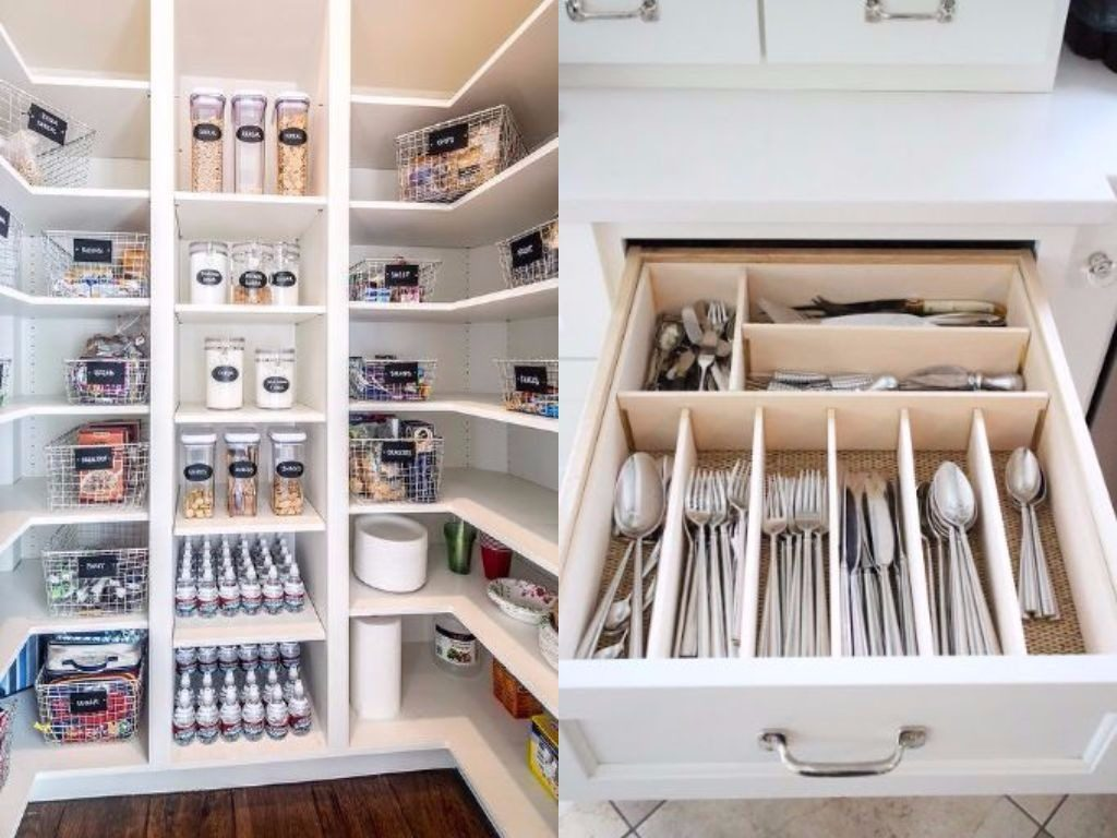 pantry and drawer organization