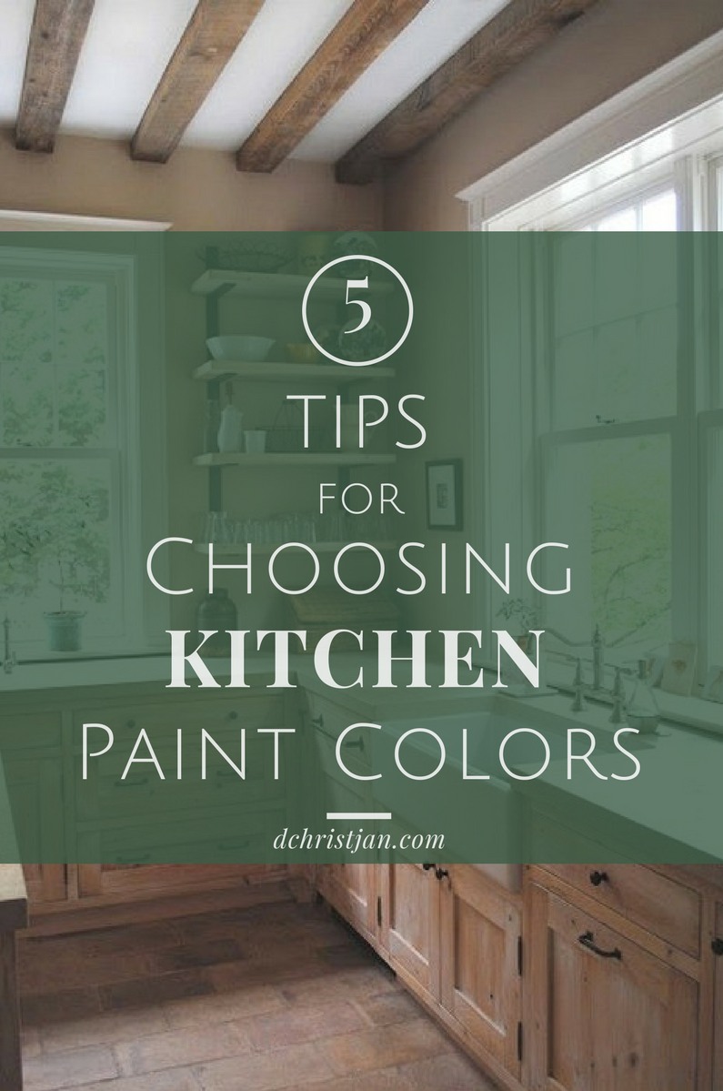 Choosing a kitchen paint color