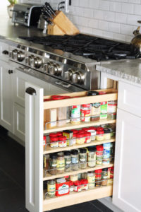 pull out spice rack
